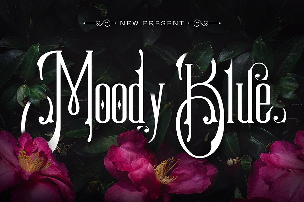 Beautiful Victorian Style Font Moody Blue by StoricType