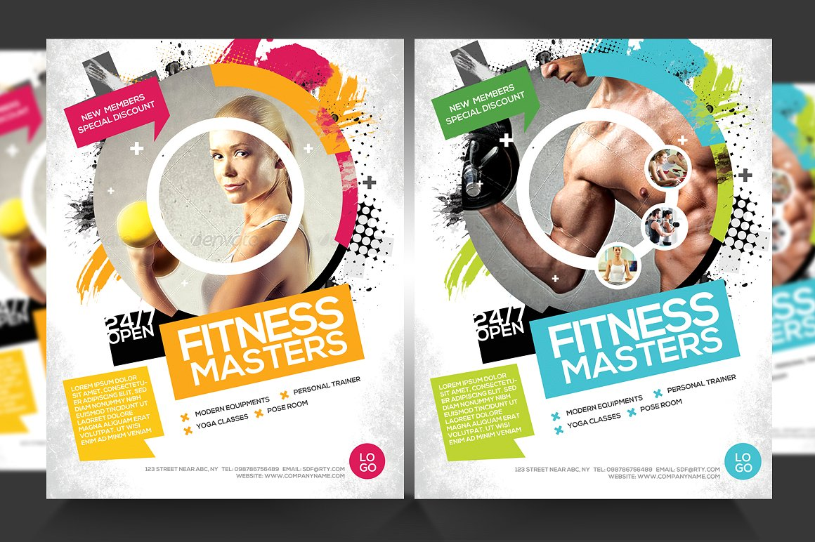 Promo Template for Your Gym or Fitness Centre by Satgur Design Studio