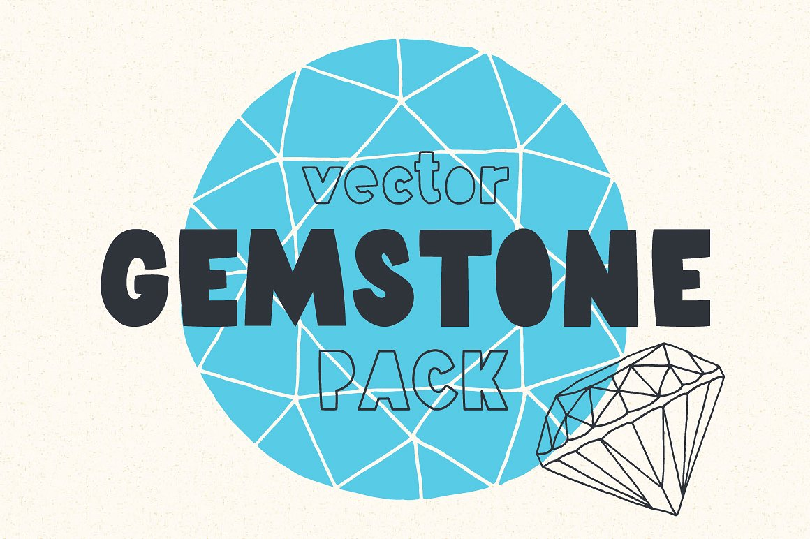 Cute Illustrated Gemstone Pack by Vítek Prchal