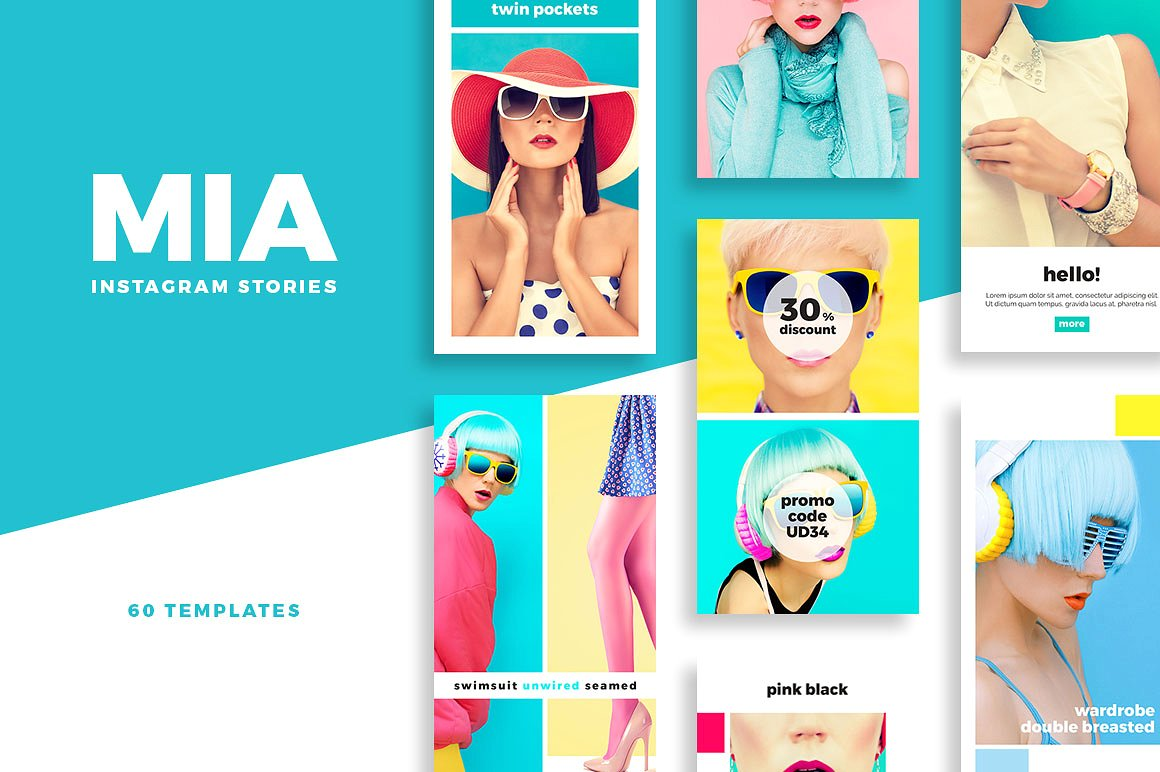 Instagram Stories Graphics and Templates Pack by SlideStation