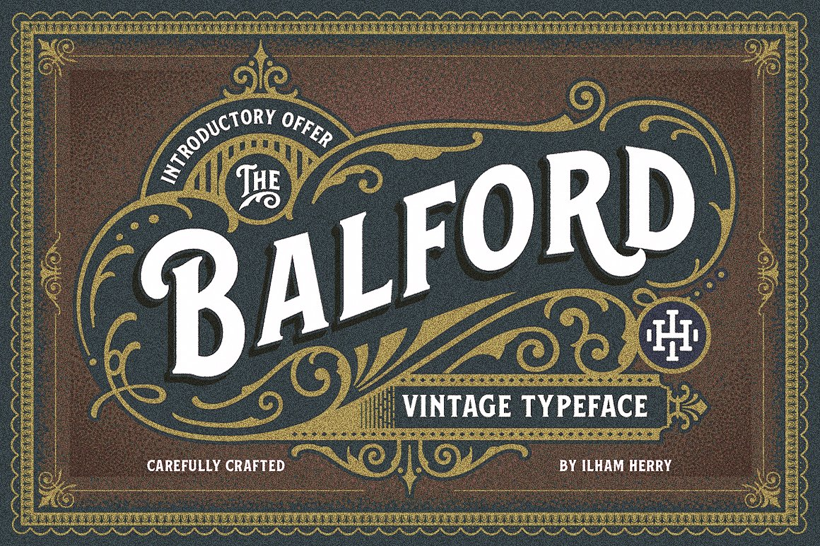 Balford: The Victorian Font and Ornament Pack by ilhamherry