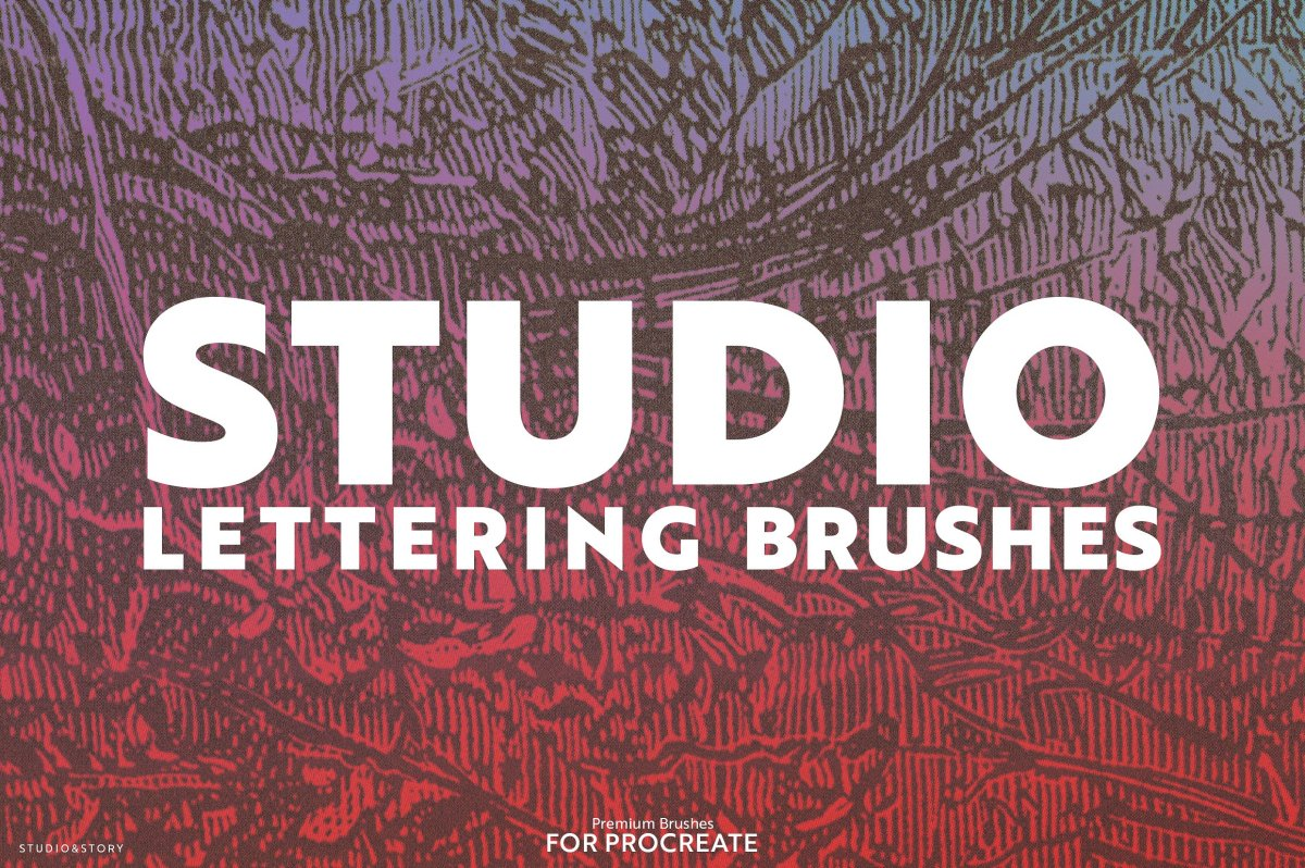 Studio Lettering Brushes for Procreate by Studio&Story
