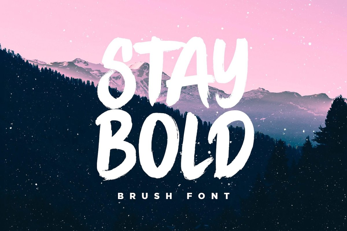 Stay Bold - The 80s Style Brush Font by Sam Parrett