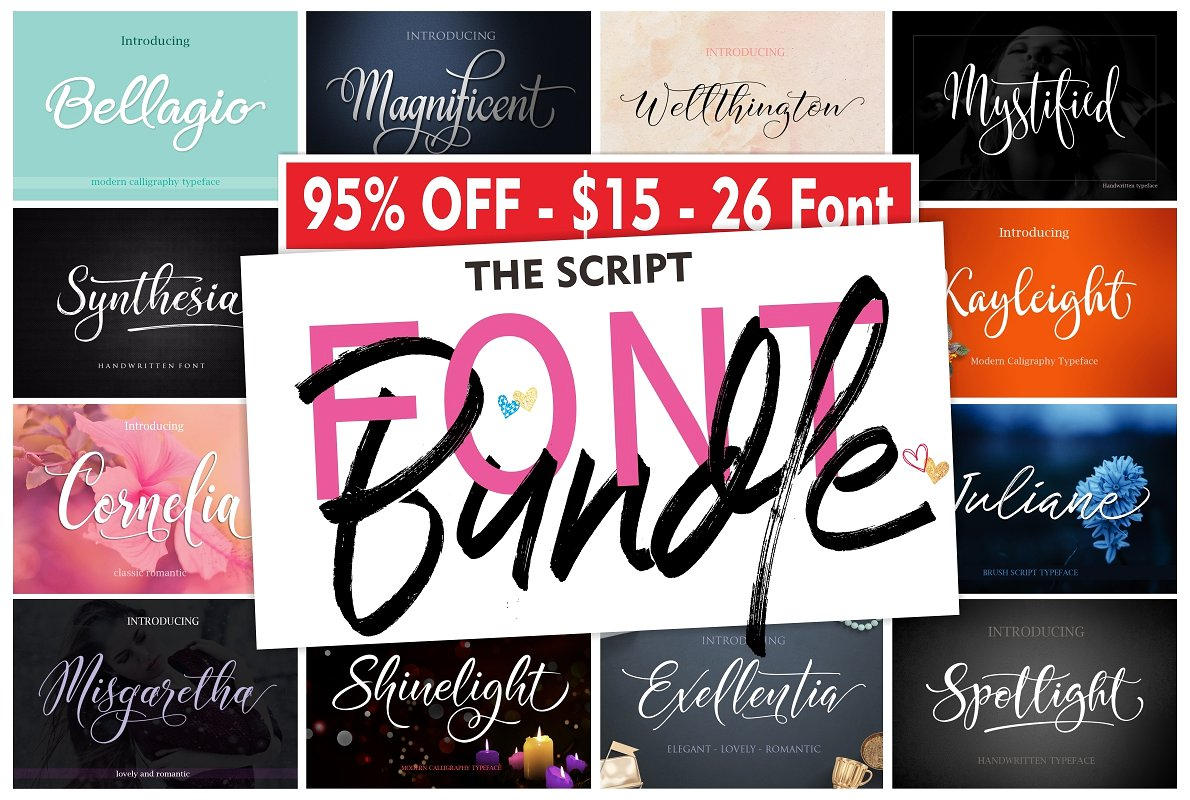 The Script FONT BUNDLE by Byuly Ayika - 95% OFF