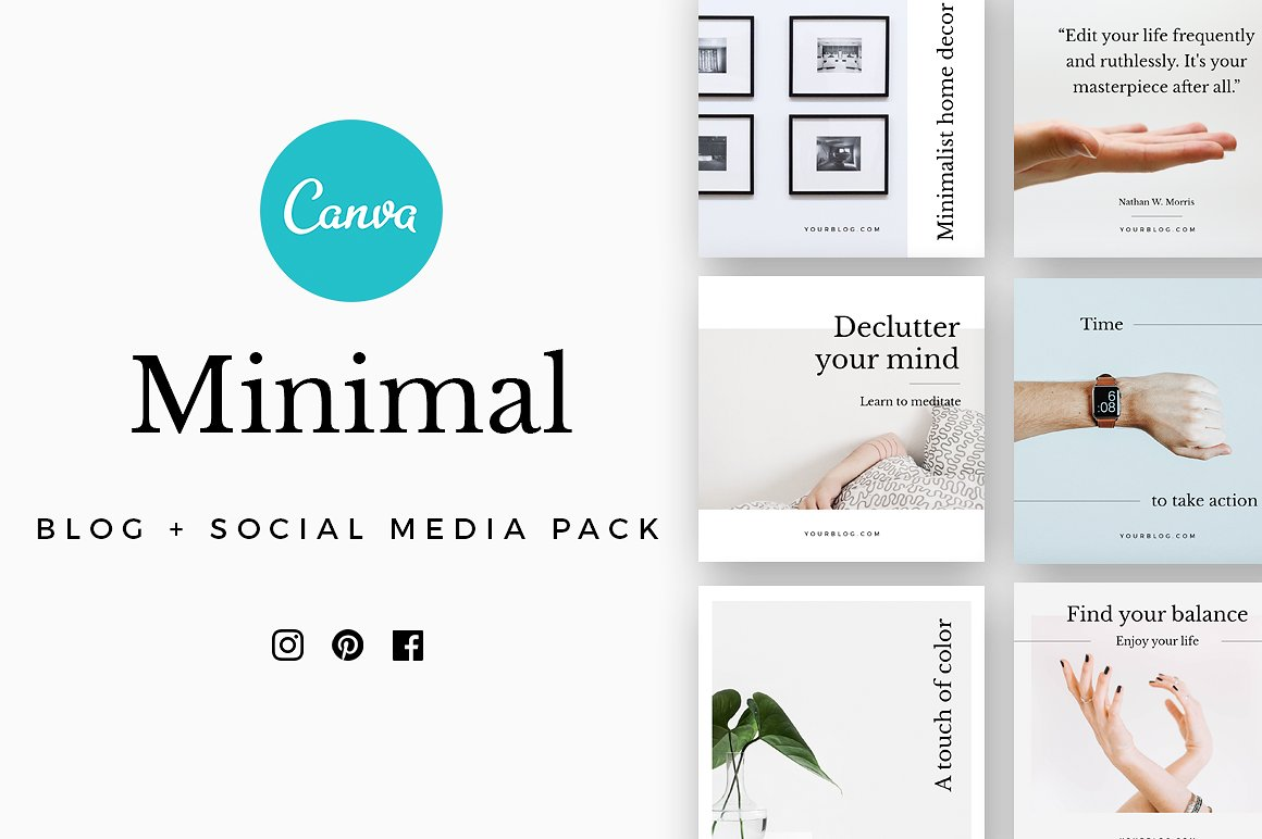 CANVA Minimal Social Media Pack by Graphica Studio