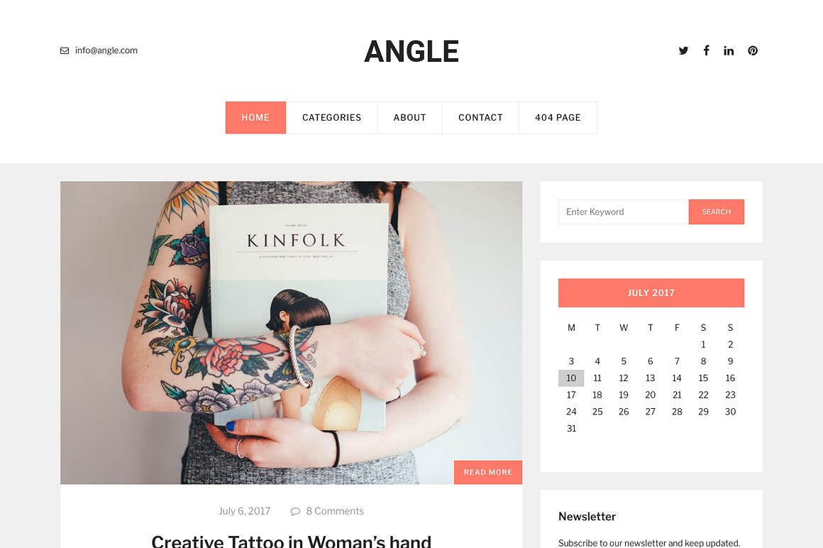 Angle - The SImple and Elegant Blog WordPress Theme by codeex