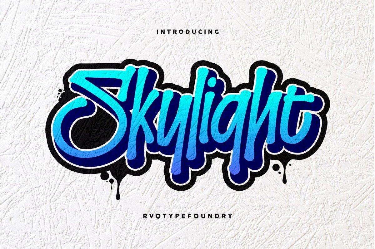 Skylight Graffiti Font by Rvq Type Foundry