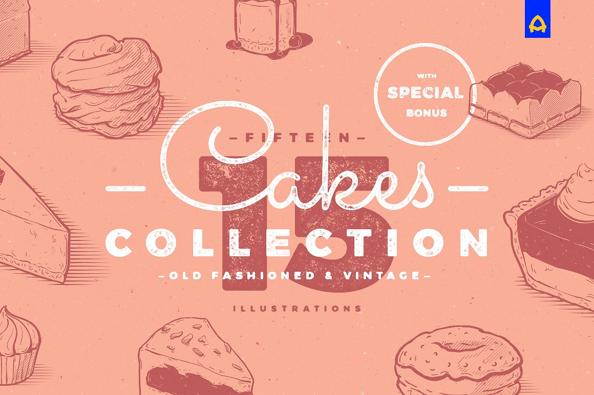 Vintage Cakes Illustrations by blauananas