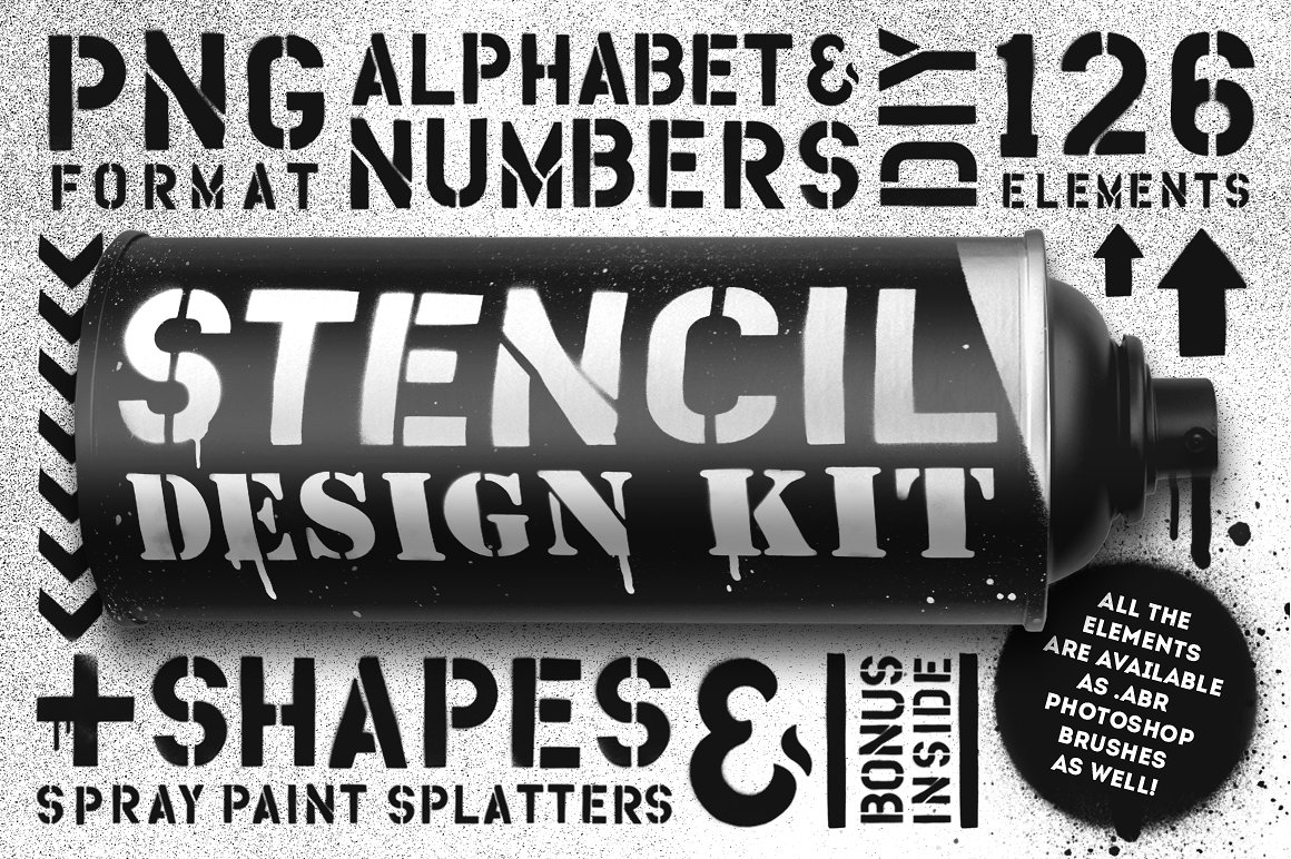 Buy The Spray Paint Stencil Design Kit by MiksKS