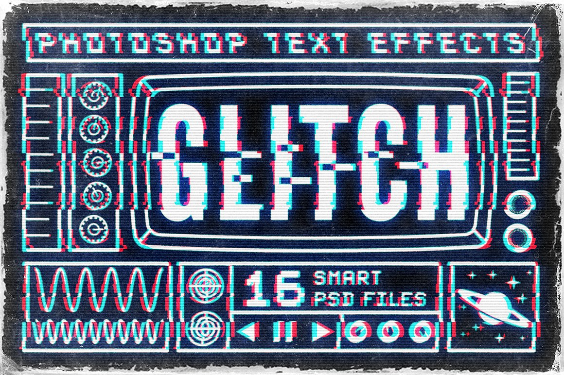 Retro TV Glitch Text Effects by MiksKS