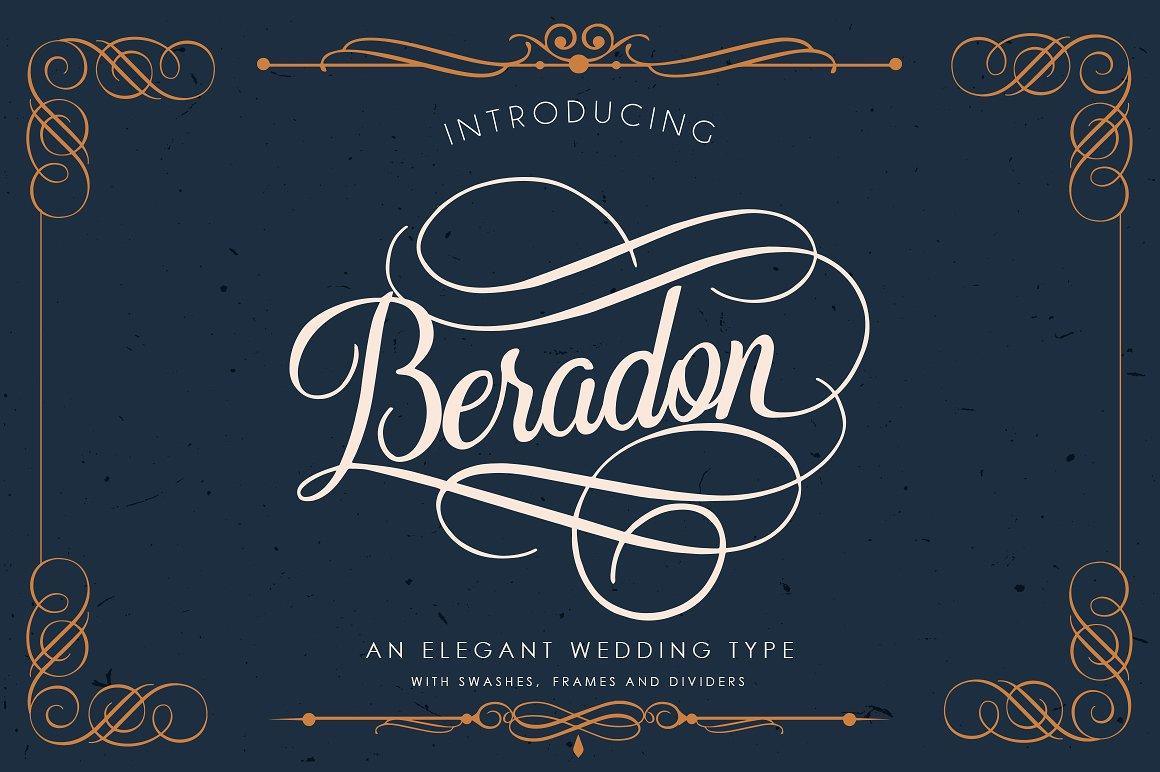 Beradon Script: The Elegant Wedding font by Black Cats Media
