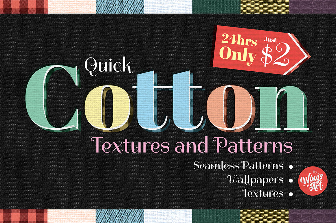 24hr Flash Sale - Cotton Textures and Patterns by Wing's Art
