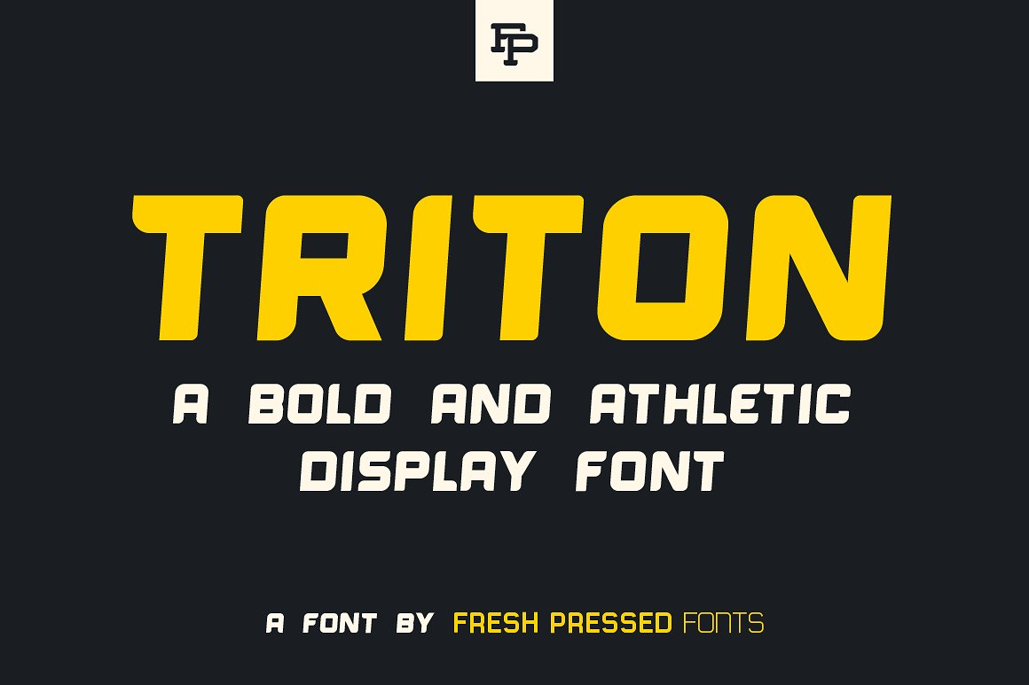 Triton: The Sporty Display Font by Fresh Pressed