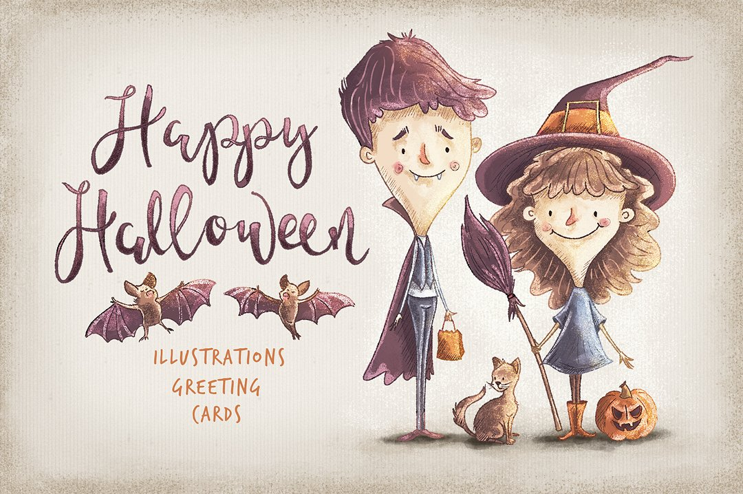 Fun Kids Halloween Character Illustrations by YetiCrab