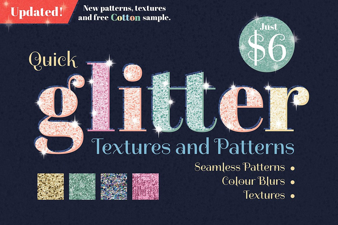 Glitter Textures and Patterns Updated!