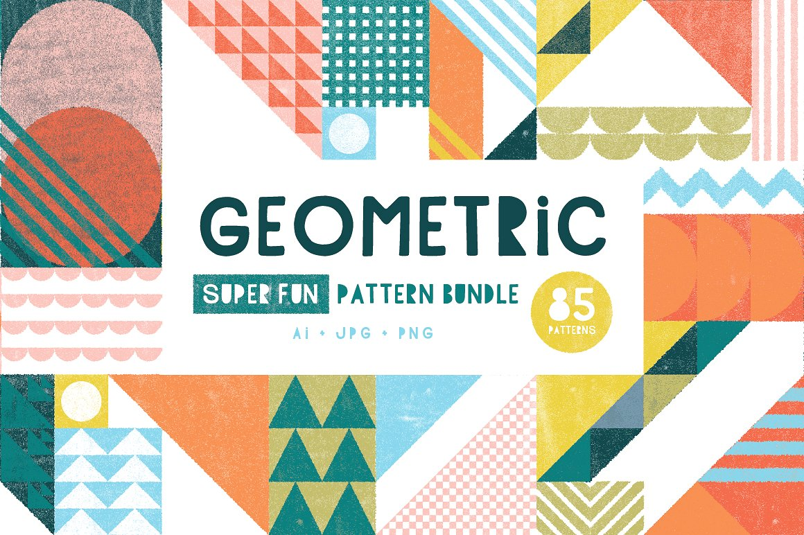 Colorful and Fun Geometric Patterns by Anugraha Design