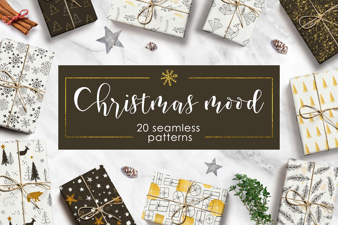 Christmas Themed Patterns by Miraclesshop