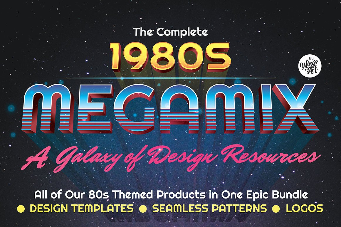 The Best 80s Graphics Bundle on the Internet by Wingsart