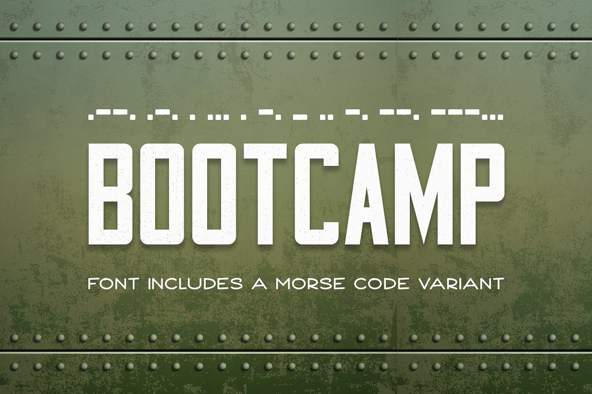 Morsecode and Military Font by DonMarciano