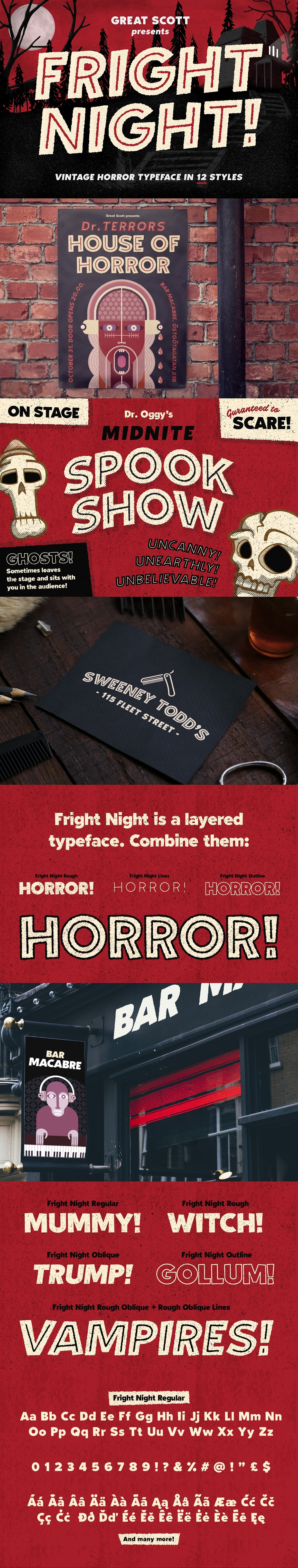 The Perfect Halloween Font by Great Scott