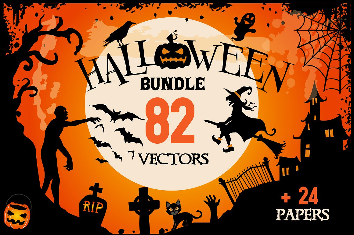 Halloween Clipart Bundle by BlackCatsMedia