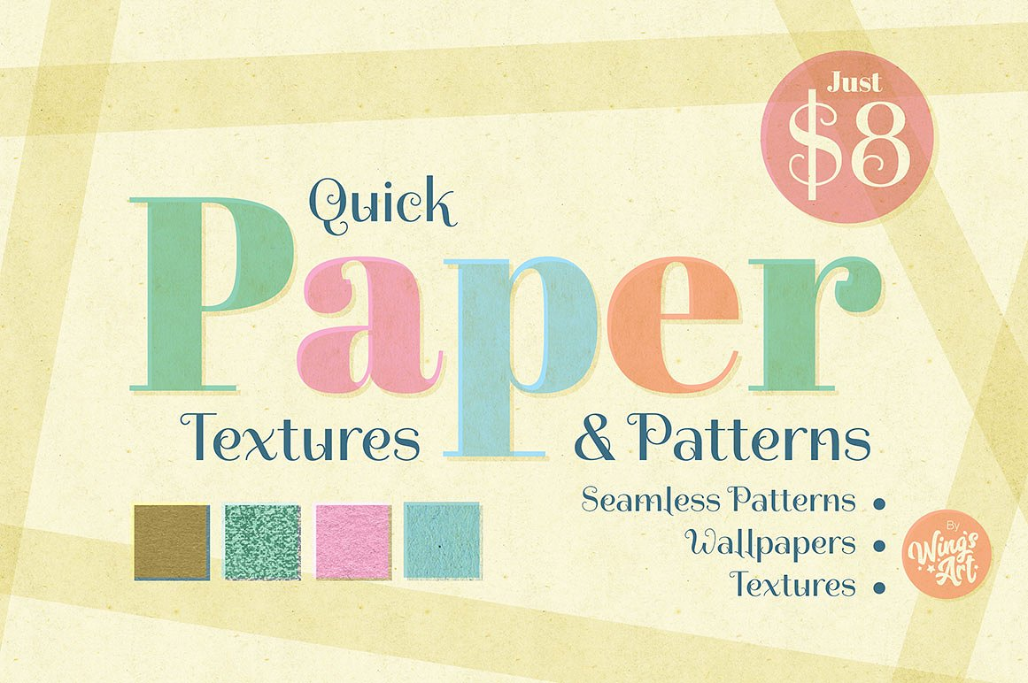 Quick and Cheap Paper Textures and Patterns by Wing's Art Studio