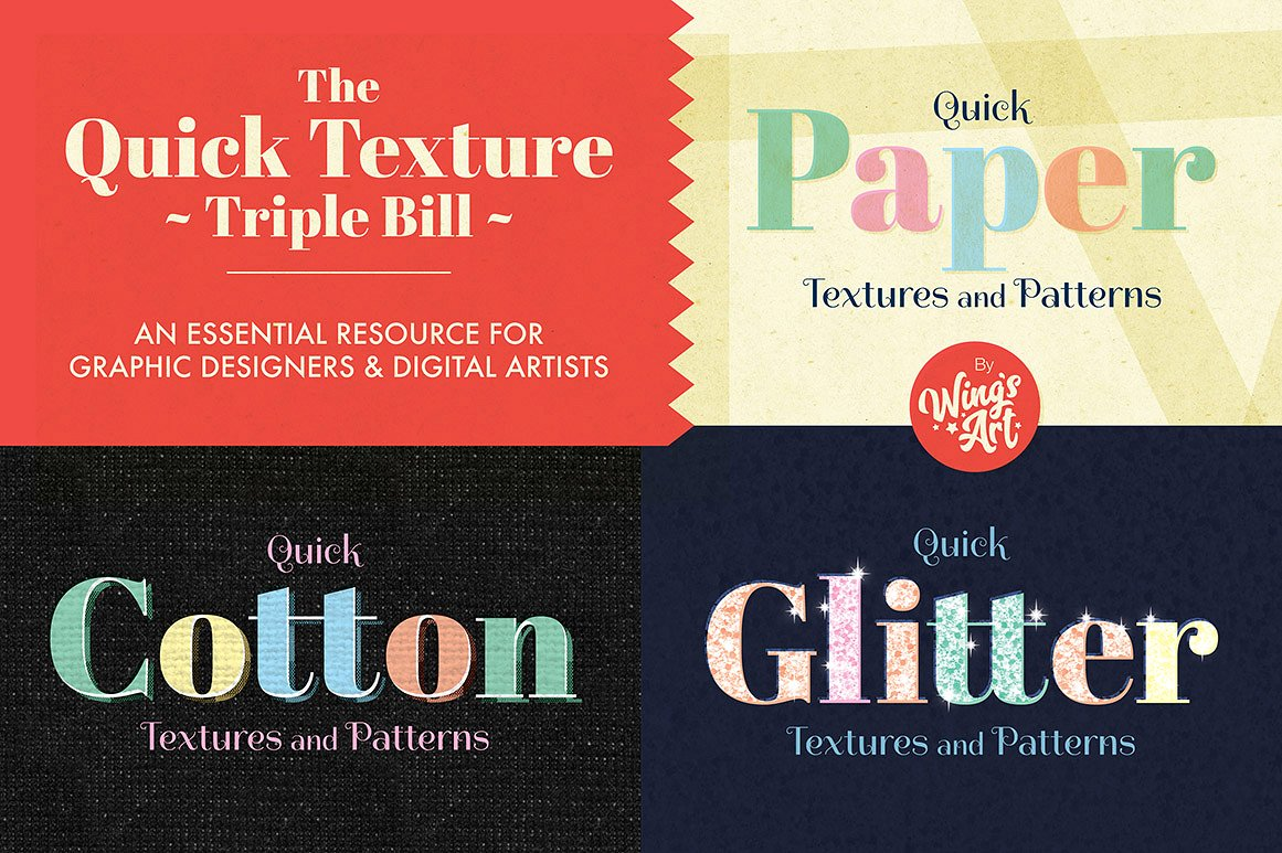 The Graphic Designer's Essential Textures Pack by Wing's Art