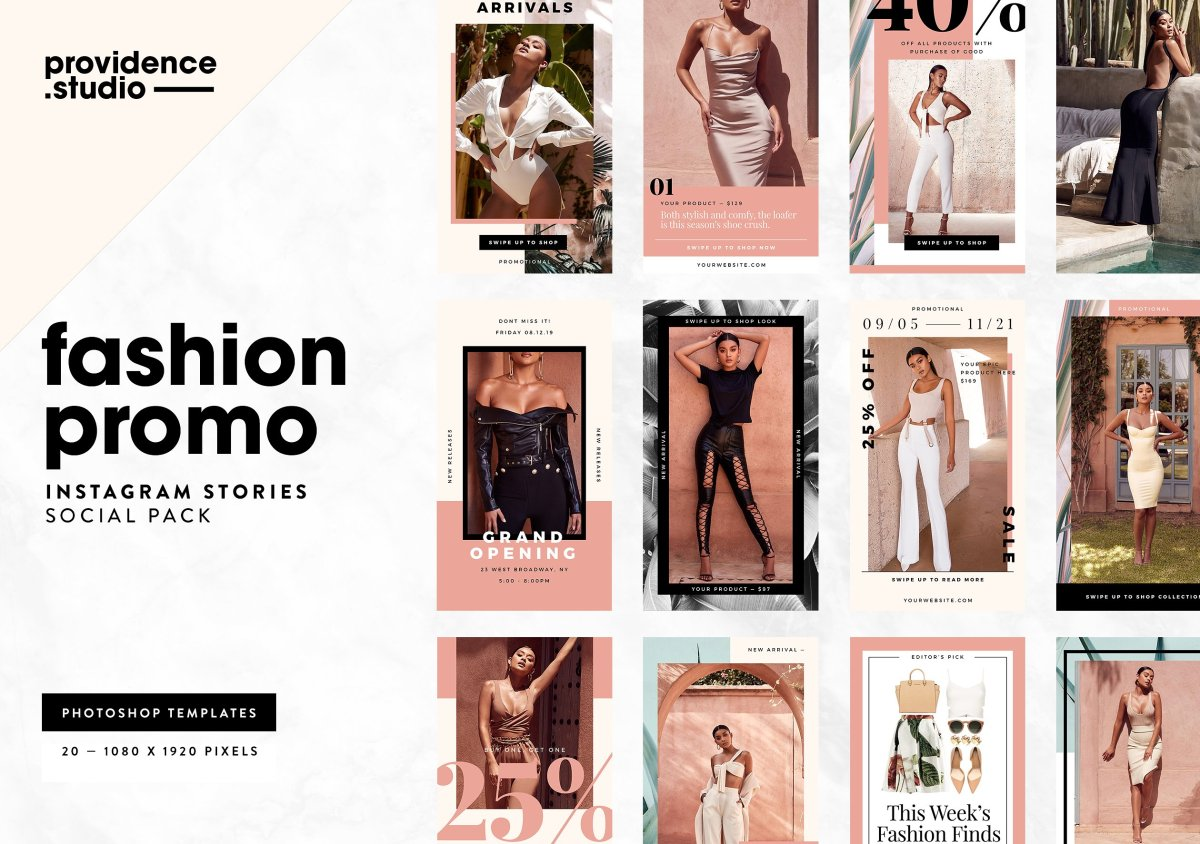 Instagram Fashion Promo Templates by Providence Studio