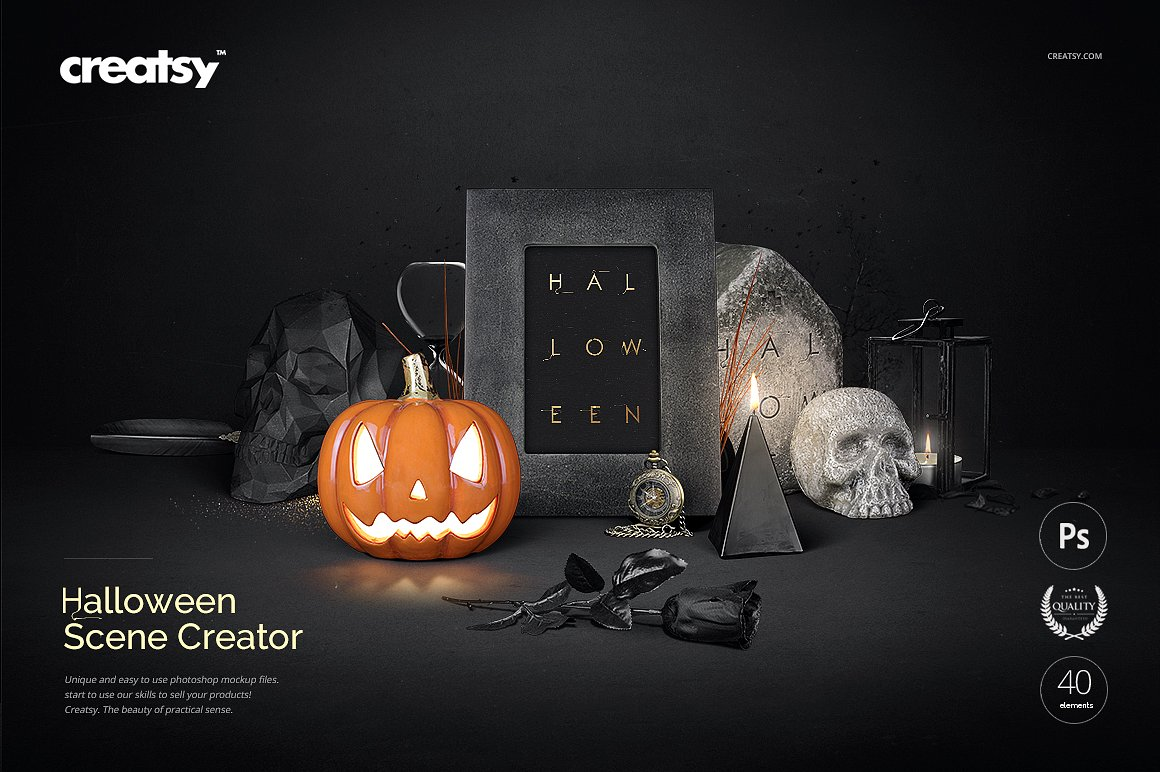 Photographic Halloween Scene Creator by Creatsy