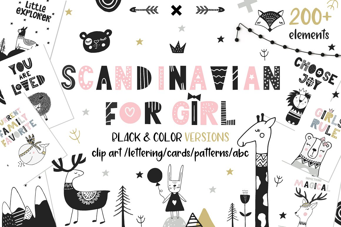 Scandi Girl Graphics by JB ART
