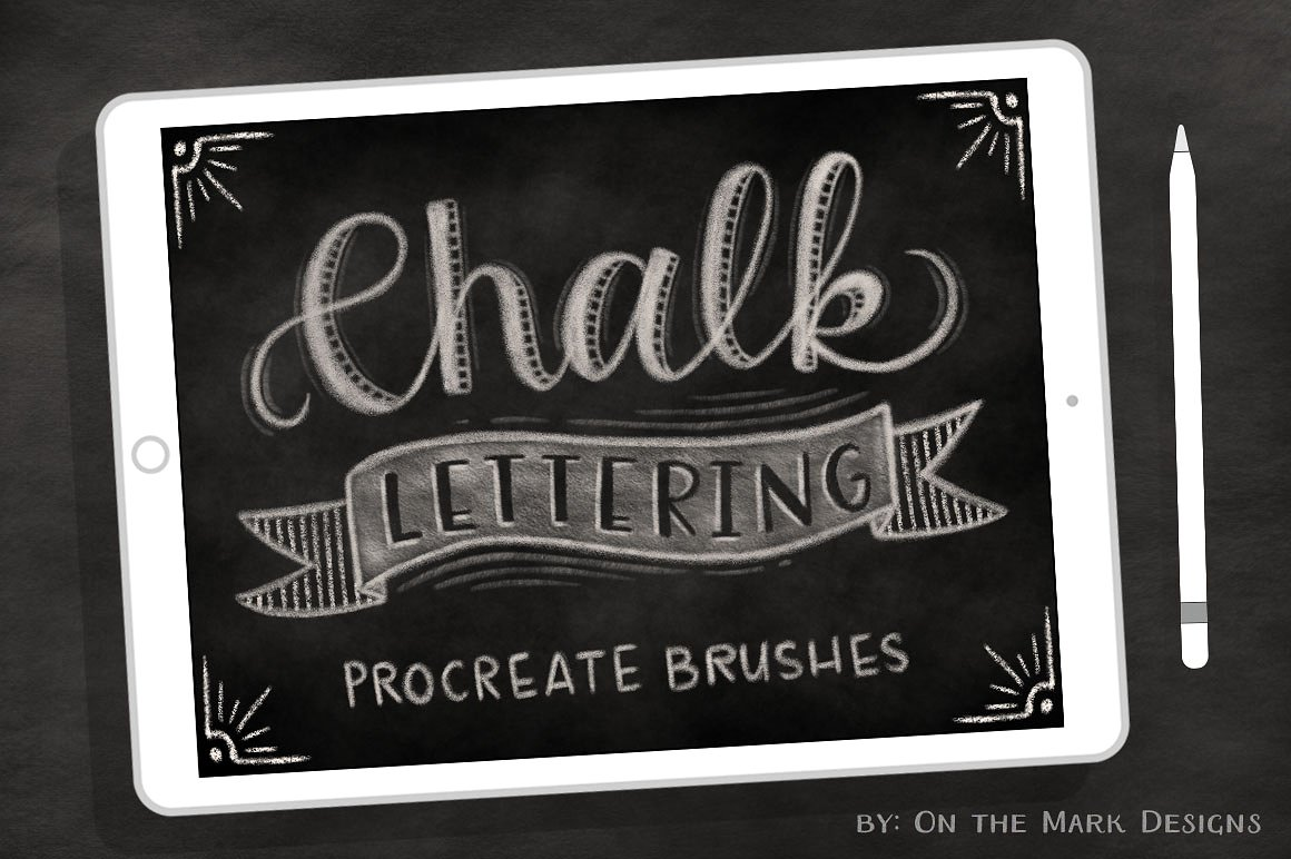 Chalk Brushes for Procreate by onthemarkdesigns