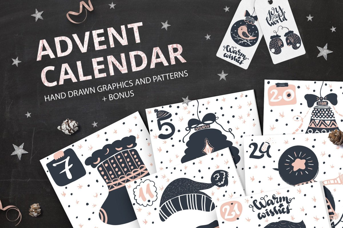 Christmas Advent Calendar Graphics by Alyonka_lis