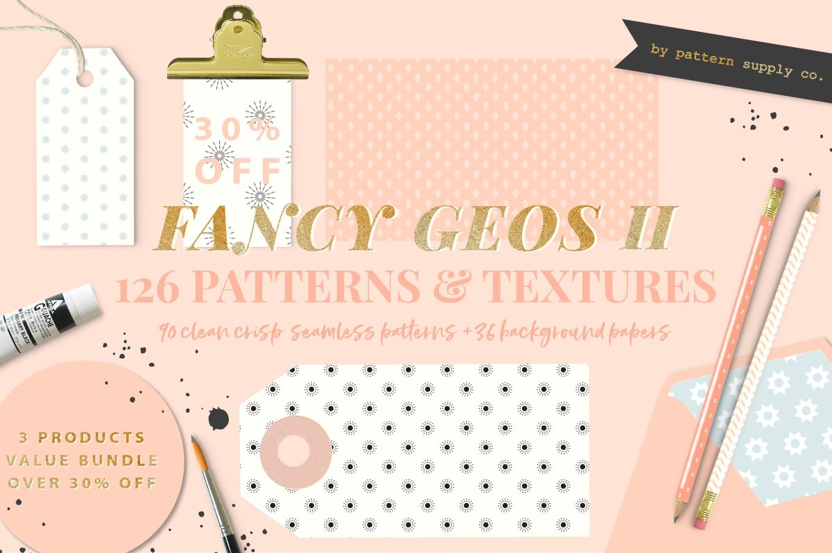 Feminine Wedding Pattern Pack by by Pattern Supply Co.