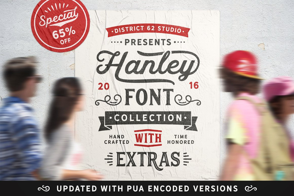 The Hanley Font Collection by DISTRICT 62 STUDIO