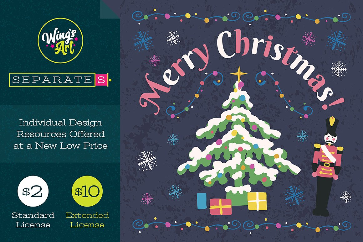 BuyChristmas Illustration and Design Template by Wing's Art