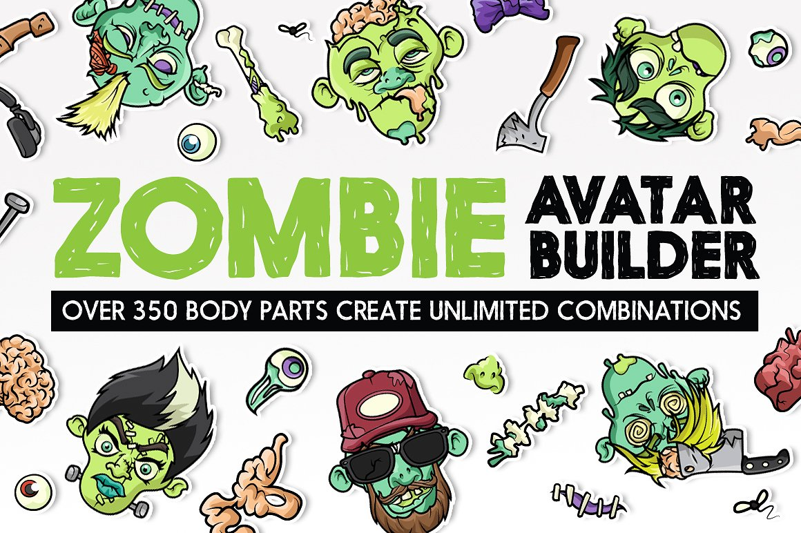 The Halloween Zombie Avatar Builder by Serkworks Art Labs