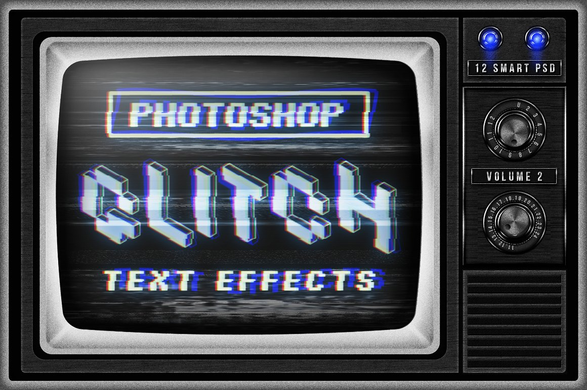 CRT TV Glitch Effects for Photoshop by MiksKS https://crmrkt.com/GkXlVp