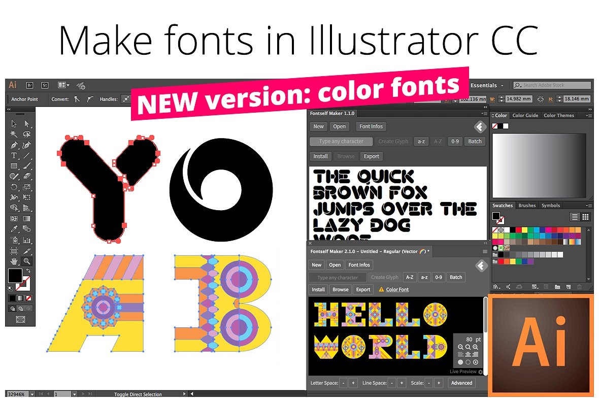Easily Make Your Own Fonts in Illustrator with Fontself!