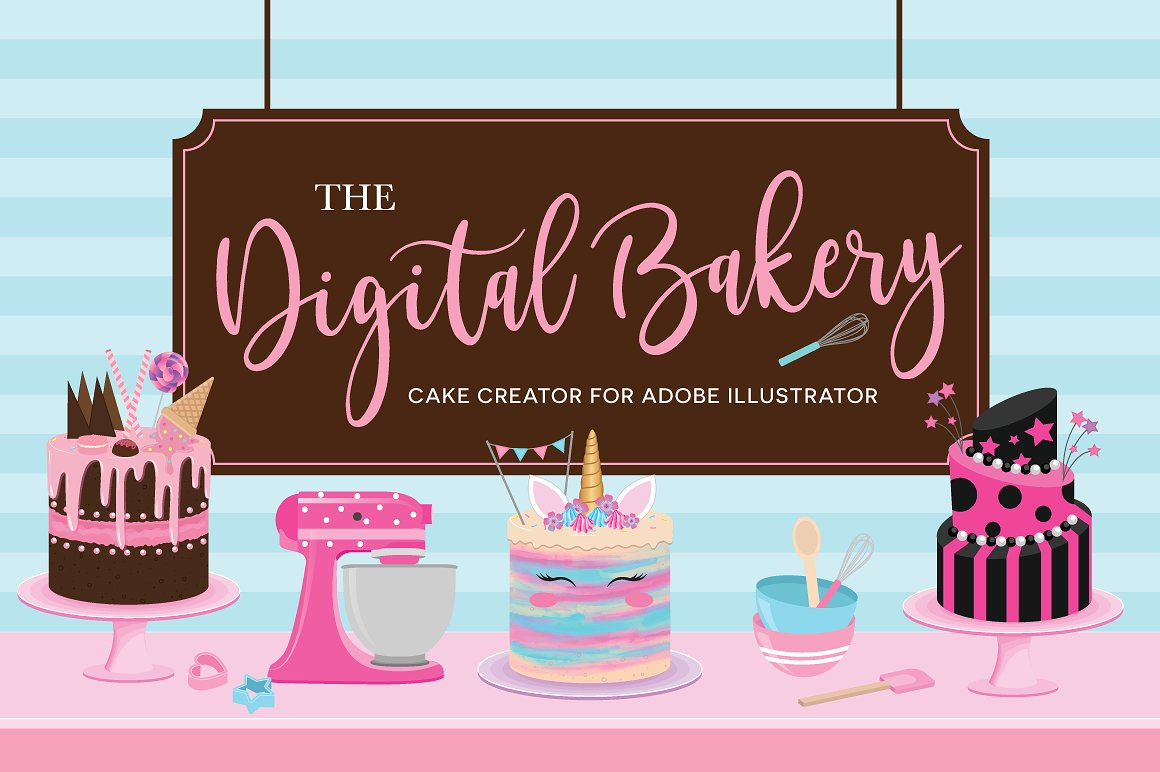 Make a Digital Cake with by Kirsten Louise
