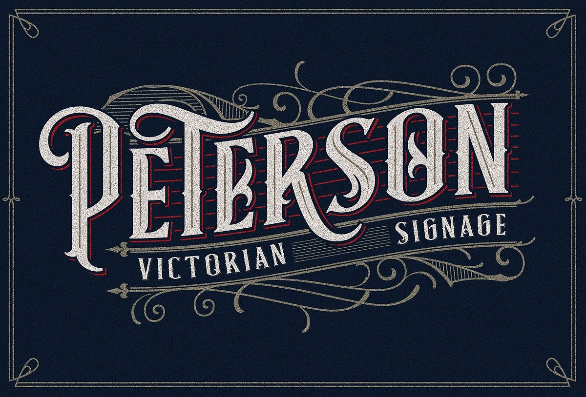 Classic Victorian Signage Font by libertype | Hug a Designer