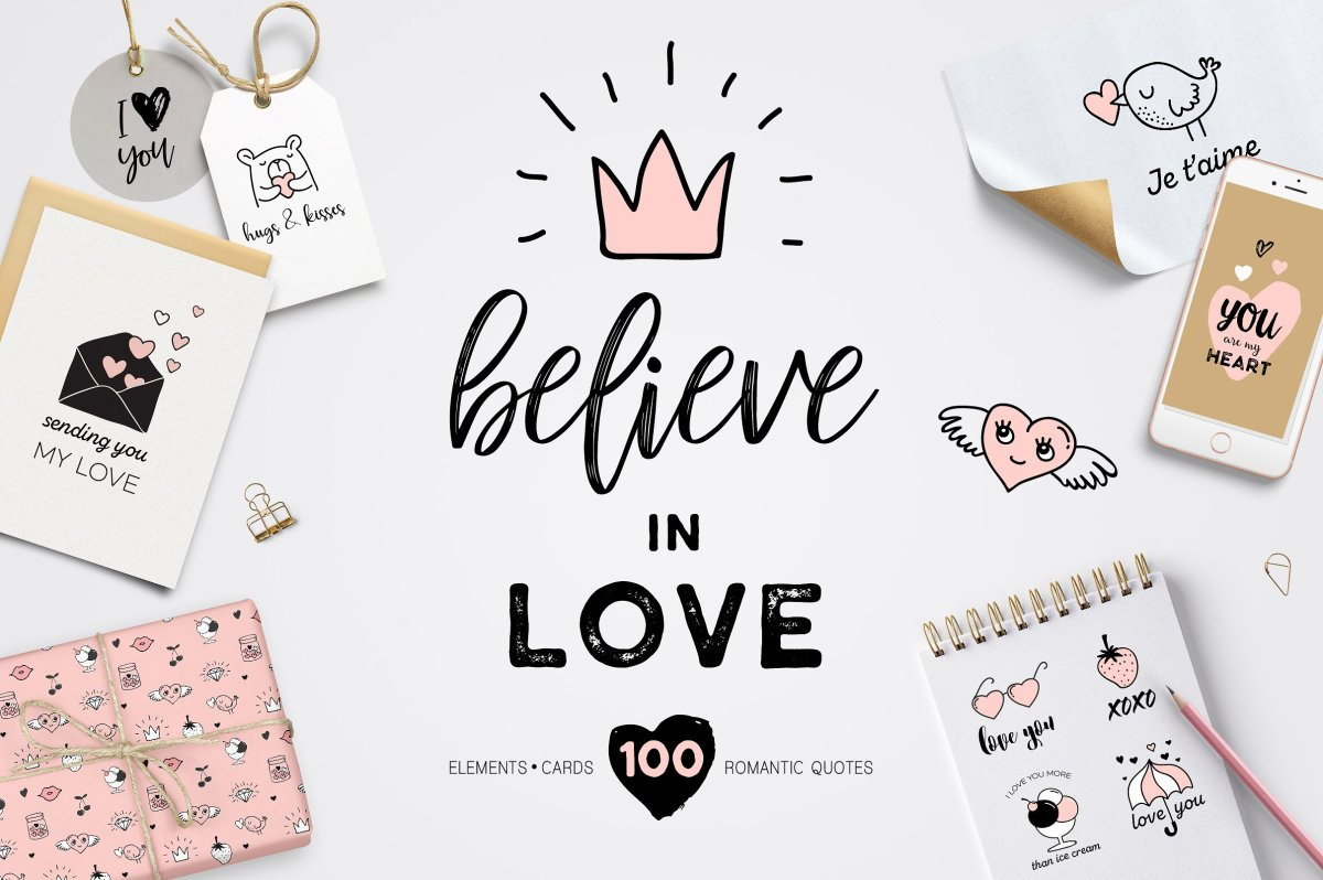 The Perfect Valentines Day Graphics Pack by Marish